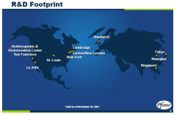 Pfizer R&D Footprint